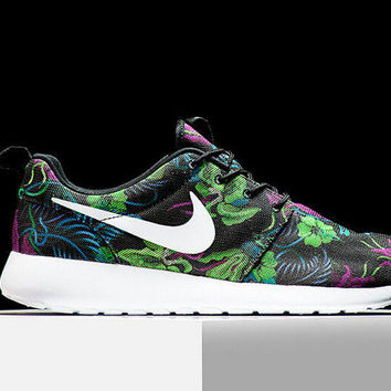New 2015 Nike Roshe Run Print 'SMOKY LOTUS' Green Palm Tree  Rosherun