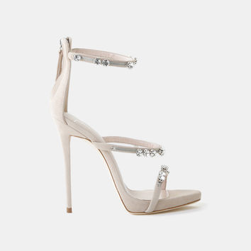 HARMONY CRYSTAL SUEDE SANDAL