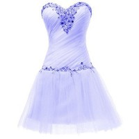 Dresstells Beading Short Homecoming Dress Prom