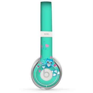 The Pink & Blue Vector Love Birds Skin for the Beats by Dre Solo 2 Headphones