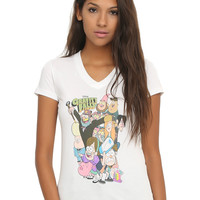 Disney Gravity Falls Characters Girls V-Neck T-Shirt