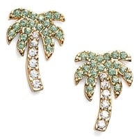 kate spade new york 'out of office' palm tree stud earrings | Nordstrom