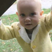 felted boy jacket-felt baby jacket- spring children fashion