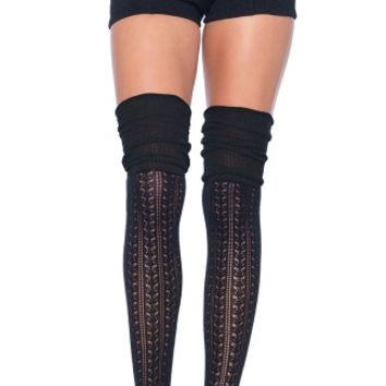 Cozy Patterned Thigh High Stockings