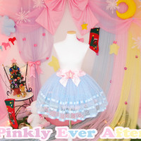 Blue Twinkling Star Tulle Skirt from Pinkly Ever After