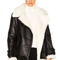 Cheap Acne Studios Black/Off White Velocite Jacket for Women Sale Online :