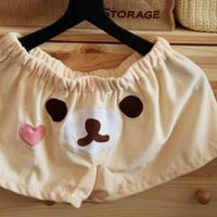 San-x Rilakkuma Women Sleepwear Shorts Pants Fleece