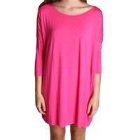 French Rose Tunic 3/4 Sleeve Dress