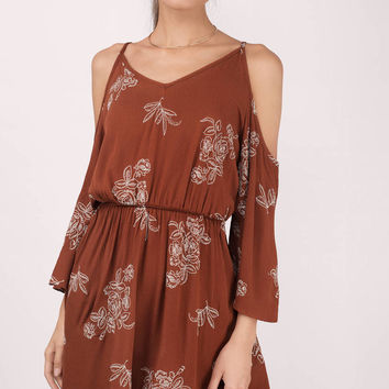 Ellis Floral Cold Shoulder Dress