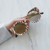 supa sundays paradise city sunglasses - rose gold zebra
