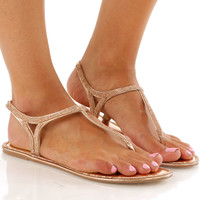 Whatever It Takes Sandals: Rose Gold