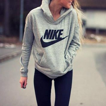 Trendsetter NIKE Women Hooded Top Sweater Pullover Sweatshirt
