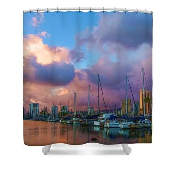 Tropical Honolulu Color Shower Curtain