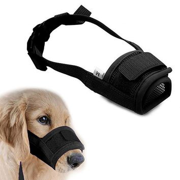 Anti Barking Dog Muzzle for Small Large Dogs Adjustable Pet Mouth Muzzles for Dogs Nylon Straps Dog Accessories 10cy30