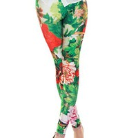 Women's Funky Digital Print Design Graphic Stretch Footless Leggings