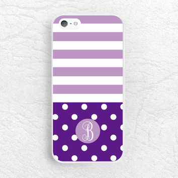 Striped Polka Dots Monogram Phone Case for iPhone, Sony z1 z2 z3 compact, LG g2 g3 nexus 6, HTC, Nokia custom case with personalized name