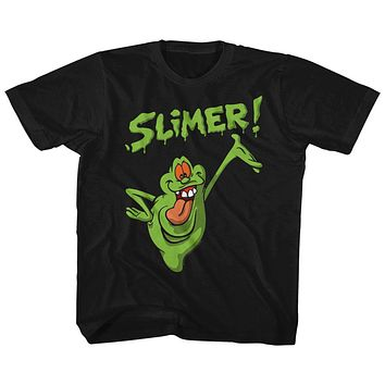 The Real Ghostbusters Kids T-Shirt Slimer Black Tee