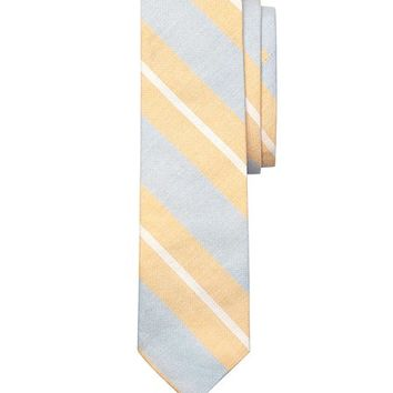 Large Split Stripe Slim Tie - Brooks Brothers