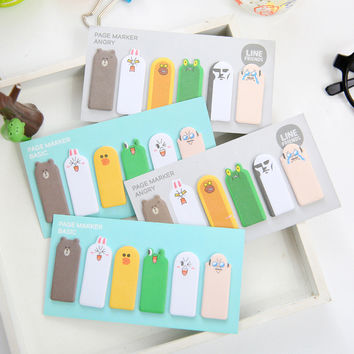 Cute Kawaii Korean Jananese Page Marker Flag Sticky Notes Bookmark Post It Scrapbooking Stickers School Office Supplies