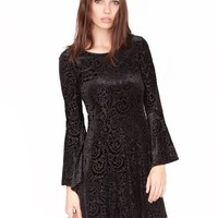 velvet bell sleeve dress - Shop the latest Fashion Trends