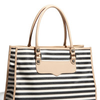 Rebecca Minkoff 'Striped Diamond' Canvas Tote