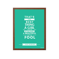 GREAT GATSBY | A Beautiful Little Fool Poster : Modern Typography Art Wall Decor Print 8 x 10 | INSTANT Digital Download Printable