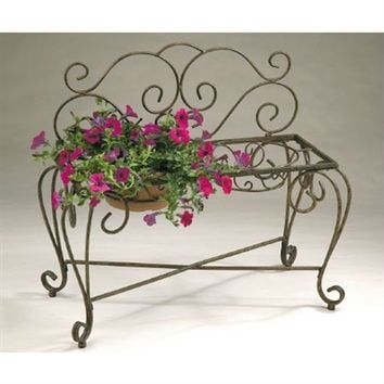 SheilaShrubs.com: Bench Planter BE203 by Deer Park Ironworks: Planters