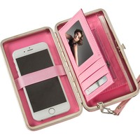 Brand Wallets for Women Wallet Clutch Female Credit ID Card Holder Phone Bag Stylish Money Organizers Passport Cover Wristlet