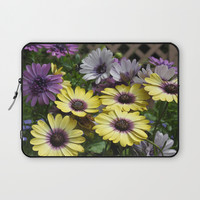 Yellow and Purple African Daisies Laptop Sleeve by minx267