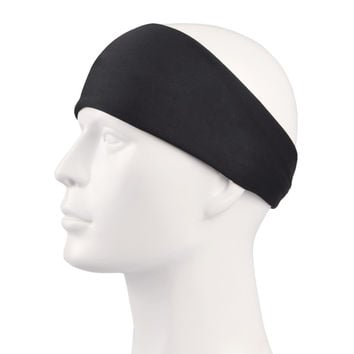 Yoga black headband Quickly dry Sports Headwear Cotton Basketball Volleyball Soccer Sweatband Running Exercise sport scarf