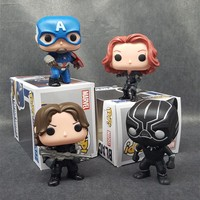 FUNKO POP Marvel Captain America Civil Superhero PVC 10CM Action Figure Doll Super Heroes Collection Toys T487