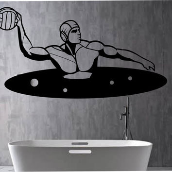 Water Polo Wall Decal THE GOOD LIFE  Sticker Art Decor Bedroom Design Mural sports lifestyle work out home decor