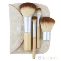 2016 5pcs/set Hot Selling New BAMBOO Makeup Brush Set Make Up Brushes Tools