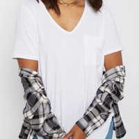 White Vintage Washed V-Neck Tee | Short Sleeve | rue21