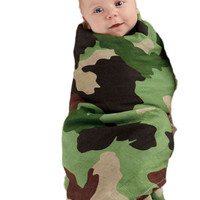 Mud Pie-Dino/Camo Swaddle Blanket Set