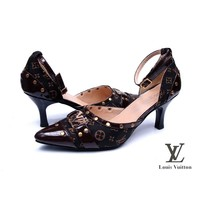Louis Vuitton Women Pointed Toe Heels Shoes