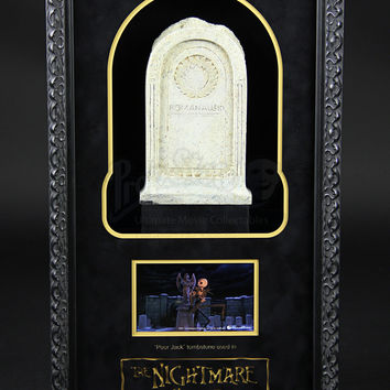 "The Nightmare Before Christmas ""Poor Jack"" Tombstone Display actual real screen used prop"