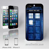 Doctor Who iPhone 5 Case, Police Box Doctor Who iPhone 4 4S Case Blue iPhone 5 Back Cover --000011