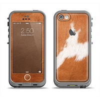 The Real Brown Cow Coat Texture Apple iPhone 5c LifeProof Fre Case Skin Set