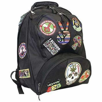 """17"""" Hippie Backpack with 15 Patches"""
