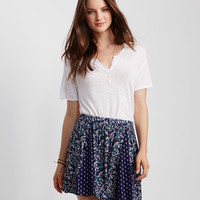 Mix Print Flippy Skirt