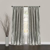 Velvet Dream Silver Bells Window Curtains (Pair)