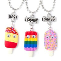Best Friends Forever Popsicle Pendant Necklaces Set of 3  | Claire's