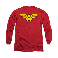 Wonder Woman Classic Logo Mens Long Sleeve T-Shirt