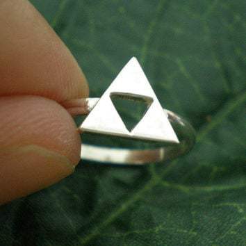 Legend of Zelda Triforce Ring  Triangles Charm Ring  by yhtanaff