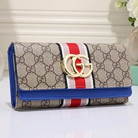 Gucci Women Leather Multicolor Purse Wallet