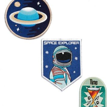 Mokuyobi 'Space Traveler' Iron-On Patches (Set of 3) | Nordstrom