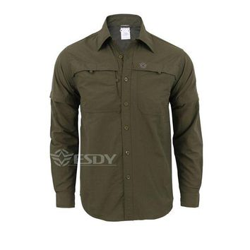 ac NOOW2 Shanghai Story Army Men's Summer Tactical Shirt Quick Dry Shirt Removable Sleeve Leisure Breathable Uv Protection Military Shirt