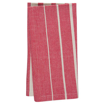 Ombré Stripe Napkins, Cherry, Set of 4, Dinner Napkins
