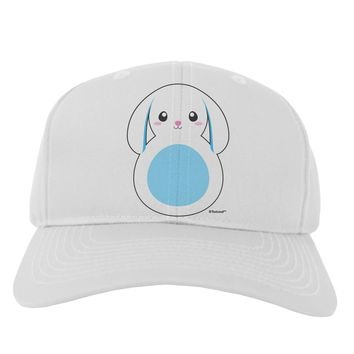 Cute Bunny with Floppy Ears - Blue Adult Baseball Cap Hat by TooLoud